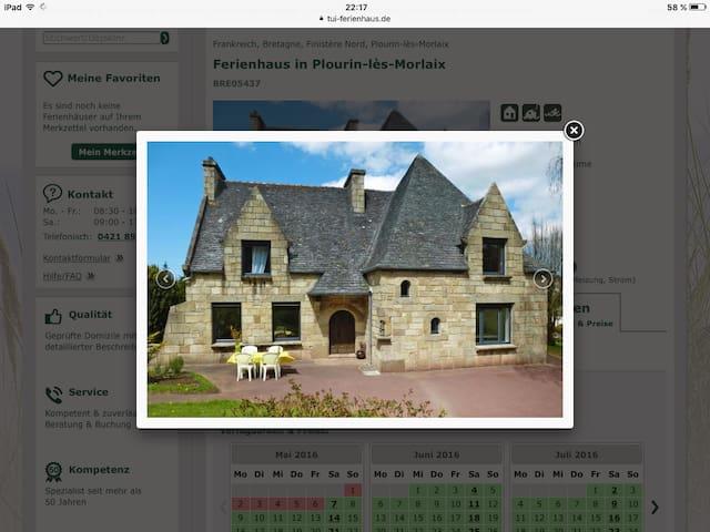 Maison tout confort trois chambres, 6 personnes - Plourin-lès-Morlaix - Casa