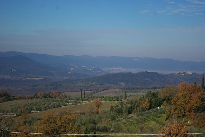 Cozy apartment on the green hills 15min from Siena - Poggio Lodoli - Appartement