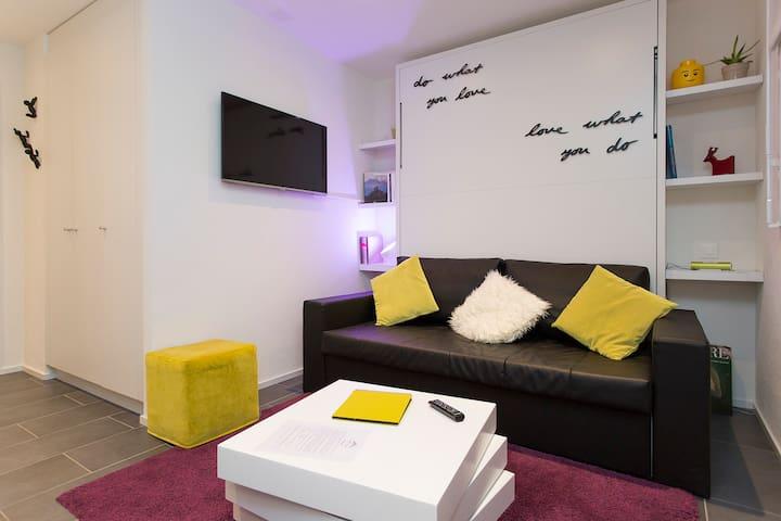 MY-Hub :  Magnifique studio neuf - Martigny - Lägenhet