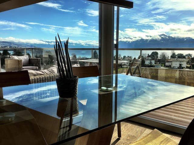 Panoramic Lake View Luxury Equiped - Saint-Sulpice - Apartemen