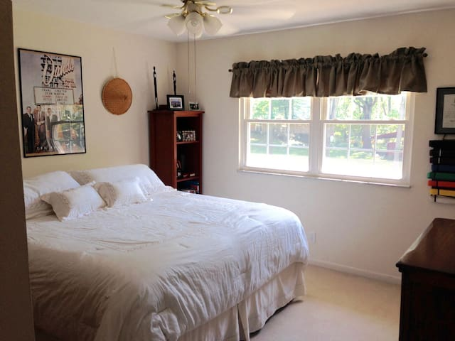 Private bedroom, king bed, shared bath - St. Louis - Ev