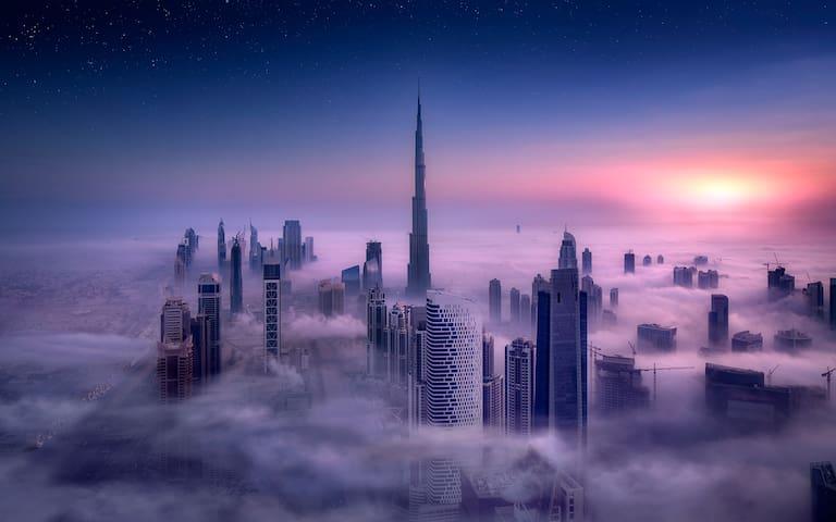 Homey room with balcony (Sea & Burj Khalifa view) - Ντουμπάι - Διαμέρισμα