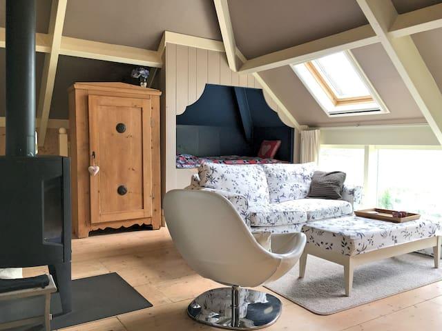 Dutch detached barnhouse studio with wood stove - Barsingerhorn - Lägenhet