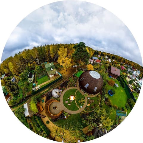 Unique eco dome house - Korolev - Huis