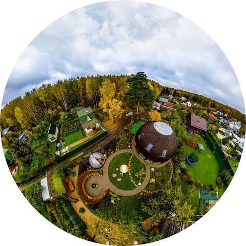 Unique eco dome house - Korolev - Hus