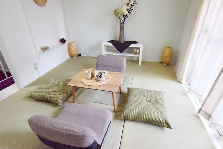 Cozy Japanese room in Osaka, 3min walk to sta. - Naniwa-ku, Ōsaka-shi - Byt