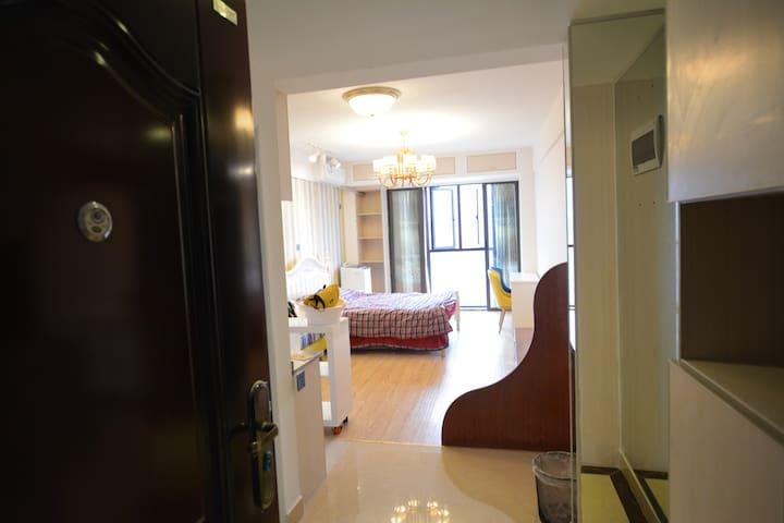 一整套带暖气交通方便近市中心贺龙体育馆安全豪华432平方尺全新大公寓 - 长沙 - Huoneisto
