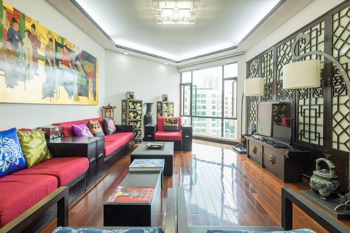 深圳皇岗公园旁3卧室超安静公寓,3BR beautiful apartment,shenzhen - Shenzhen - Apartmen