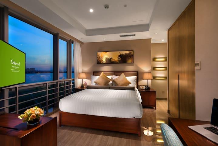 来自北美知名酒店公寓品牌 - 坐享独墅湖270度湖景 45平 豪华客房 地铁2号线月亮湾站直达 - Suzhou - Apartmen perkhidmatan