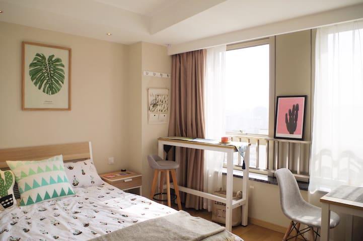 Jill's Studio well-equipped 下楼直达地铁至人广15分钟精致装修酒店式公寓 - Szanghaj