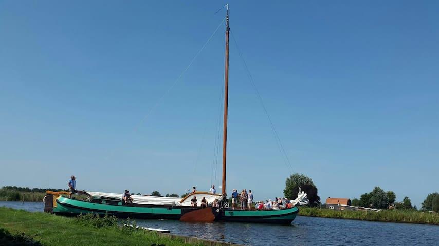 4pers boot huisje aan water top locatie - langelille - Dom