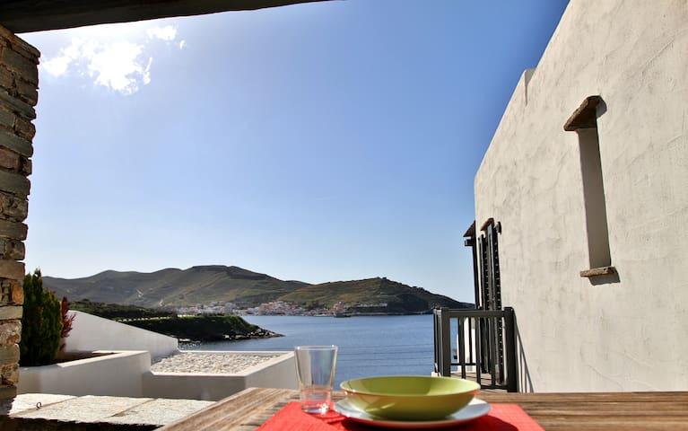 West Cycladic Modern Maisonette - Kéa - Hus
