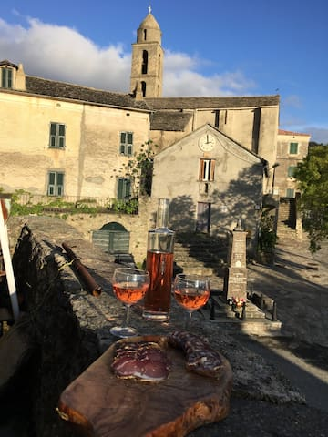 chambres dans maison de village - Santa Lucia Di Mercurio  - Casa