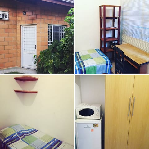 Small well-equipped room with private bathroom - Campinas - Casa