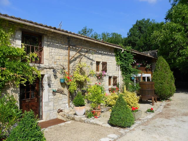 Unique French Watermill cottage - Paizay-le-Tort - Lerhydda