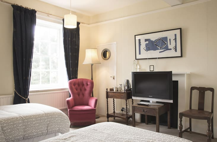 Classic Twin room with garden view - West Berkshire - Bed & Breakfast