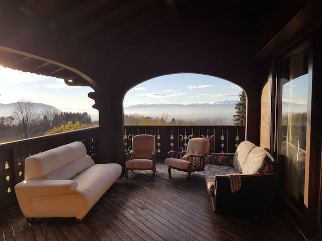Bedrooms with private bathroom in peaceful Chalet - Cranves-Sales - Alpstuga