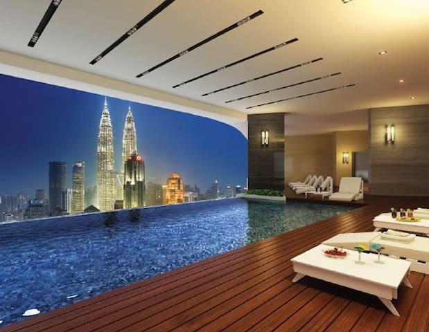 Skyline pool near KLCC , twin tower - Kuala Lumpur - Apartamento