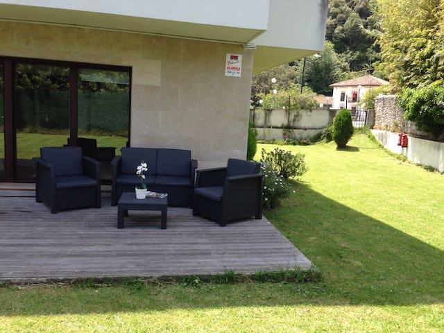 Piso con jardín privado en Urdaibai - Busturia - Apartemen