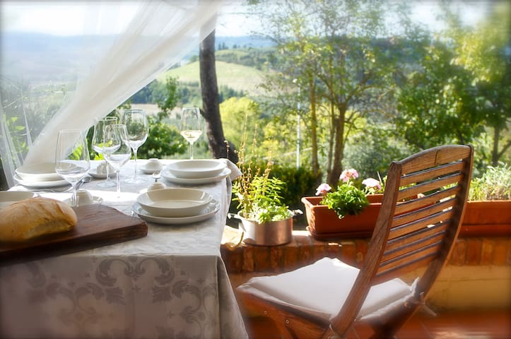 Casa Sole with his wonderful view  - Morrona - Appartement