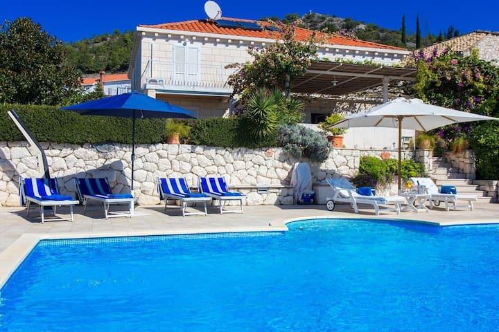 Mediterranean villa with swimming pool - Orašac - Hus