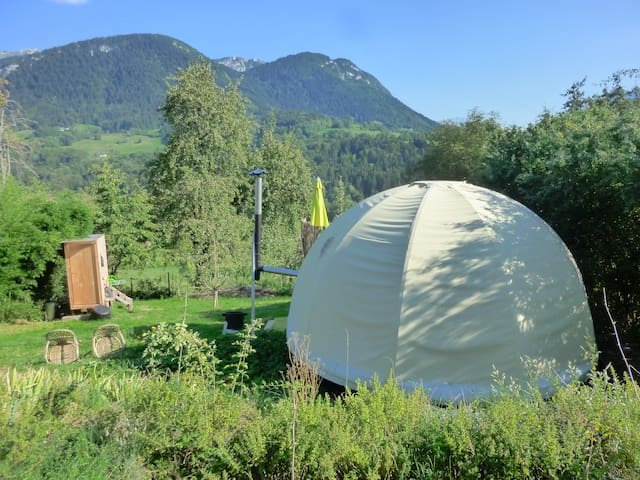Stay in yurt at nature mountains - Bellecombe-en-Bauges - Yurt