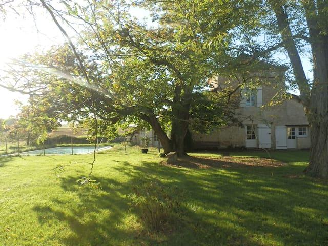 Charmant Logis 18ème piscine privée - Monsaguel - Casa